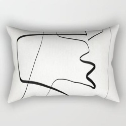 Rectangular Pillow | Abstract Line Art 6 by Thingdesign - Small (17