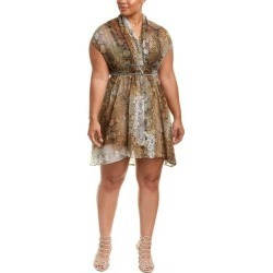 Elvi Chiffon Shift Dress (beige/brown prt - 10), Women's found on MODAPINS from Overstock for USD $28.34