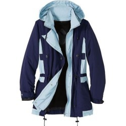 Haband Womens Three Season Jacket with Zip Out Fleece Liner, Navy/Blue, Size Womens found on Bargain Bro Philippines from Haband for $46.99
