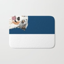 Bath Mat | Australian Shepherd Blue Merle Cute Pet Portrait Dog Person Must Have Gifts For Aussie Owner by Petfriendly - 17