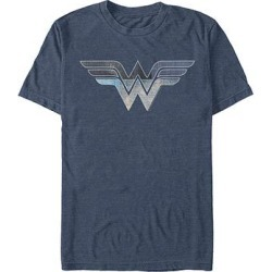 Fifth Sun Men's Tee Shirts NAVY - Navy Heather Wonder Woman Double Logo Crewneck Tee - Men found on Bargain Bro Philippines from zulily.com for $18.49