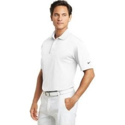 Nike Men's Basic DRI-FIT Polo Assorted Colors (S - White)(knit, embroidered) found on Bargain Bro India from Overstock for $56.99