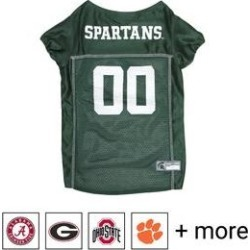 Pets First NCAA Dog & Cat Mesh Jersey, Michigan State Spartans, X-Small found on Bargain Bro India from Chewy.com for $12.89