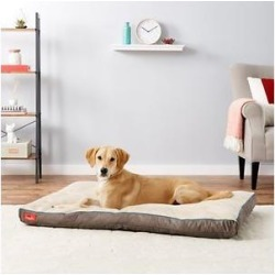 Brindle Soft Orthopedic Pillow Cat & Dog Bed w/Removable Cover, Khaki, 52 x 34 in found on Bargain Bro from Chewy.com for USD $53.19