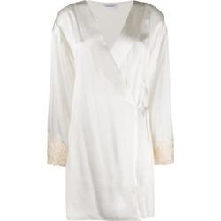 Maison Silk Short Robe - White - La Perla Nightwear found on Bargain Bro from lyst.com for USD $730.36