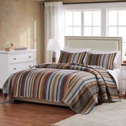 Durango Quilt Set by Greenland Home Fashions in Earth Tone (Size FL/QU 3PC)