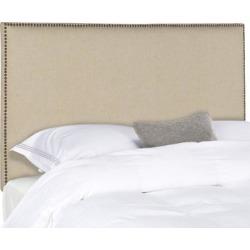 Safavieh Sydney Hemp Linen Upholstered Headboard - Brass Nailhead (Full) , Black found on Bargain Bro Philippines from Overstock for $192.49