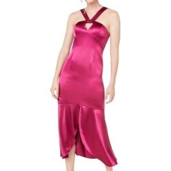 Aidan Mattox Women's Dress Pink Size 4 Sheath Liquid Satin Midi Halter (4) found on MODAPINS from Overstock for USD $57.97