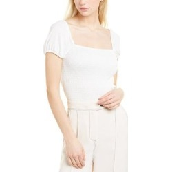 French Connection Solid Smocked Top (XS), Women's, White(viscose) found on MODAPINS from Overstock for USD $27.29