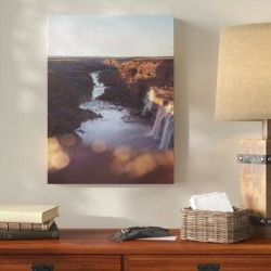 Millwood Pines 'Waterfall (21)' Photographic Print on Canvas Canvas & Fabric in Brown, Size 30.0 H x 20.0 W x 2.0 D in   Wayfair found on Bargain Bro Philippines from Wayfair for $151.99