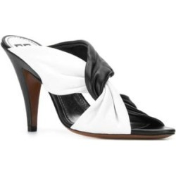 Givenchy Women's Leather Tie High Heel Mule Sandals Black found on Bargain Bro from Overstock for USD $303.24
