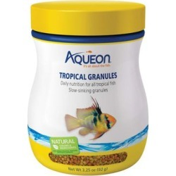 Aqueon Tropical Granules Tropical Fish Food, 3.25 oz.