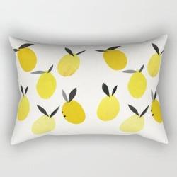 Rectangular Pillow | Lemons by Cassia Beck - Small (17