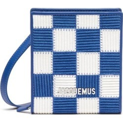 'le Gadjo' Checkboard Logo Tag Pouch - Blue - Jacquemus Messenger found on Bargain Bro from lyst.com for USD $323.00