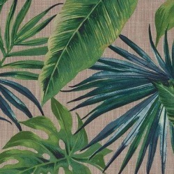 McalisterTextiles Palm Leaf New Printed Velvet Fabric By The Half Yard - Floral 100% Polyester in Green, Size 3.94 H x 55.12 W in | Wayfair found on Bargain Bro Philippines from Wayfair for $18.99