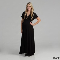 24/7 Comfort Apparel Women's Maternity Faux Wrap Maxi Dress found on Bargain Bro Philippines from Overstock for $33.48