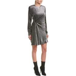 Saint Laurent Silk-Blend Sheath Dress (36), Women's, Gray found on Bargain Bro from Overstock for USD $639.53