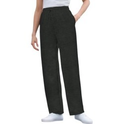 Plus Size Women's Better Fleece Sweatpant by Woman Within in Heather Charcoal (Size S) found on Bargain Bro Philippines from fullbeauty for $19.99