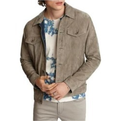 John Varvatos Mens Gray Button Down Jacket S found on Bargain Bro from Overstock for USD $145.68