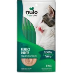 Nulo Freestyle Perfect Purees Tuna & Scallop Recipe Grain-Free Lickable Cat Treats, 0.5-oz, pack of 6 found on Bargain Bro India from Chewy.com for $5.99