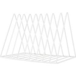 Inbox Zero 9 Slot Magazine Holder,Desktop File Sorter Organizer Triangle Bookshelf Decor Home Office Metal in White, Size 6.9 H x 10.2 W x 7.0 D in found on Bargain Bro Philippines from Wayfair for $78.99