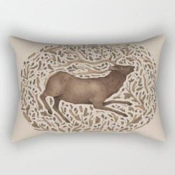Rectangular Pillow | Elk In Nature by Jessica Roux - Small (17