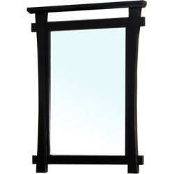 Solid wood frame mirror-black - BellaTerra 203012-MIRROR found on Bargain Bro Philippines from totally furniture for $292.99