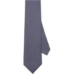 Wind Turbine Print Silk Tie - Blue - Ferragamo Ties found on Bargain Bro India from lyst.com for $190.00