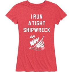 Instant Message Women's Women's Tee Shirts HEATHER - Heather Red 'I Run a Tight Shipwreck' Relaxed-Fit Tee - Women & Plus