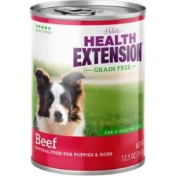 Health Extension Grain-Free Beef Canned Dog Food, 13.2-oz, case of 12
