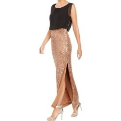 Calvin Klein Women's Dress Black Size 4 Sheath Colorblock Sequin Skirt (4)(polyester) found on Bargain Bro from Overstock for USD $56.22