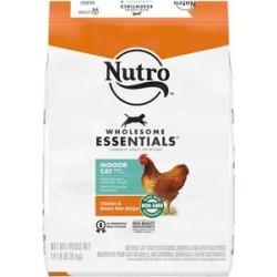 Nutro Wholesome Essentials Indoor Chicken & Brown Rice Recipe Adult Dry Cat Food, 14-lb bag