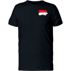 Grunge Pocket Flag Of Indonesia Tee Men's -Image by Shutterstock (L), Black found on Bargain Bro from Overstock for USD $11.39