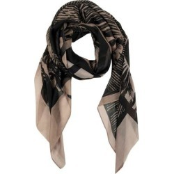 Cacti Cotton & Silk Large Square Scarf - Black - AllSaints Scarves found on Bargain Bro from lyst.com for USD $75.24
