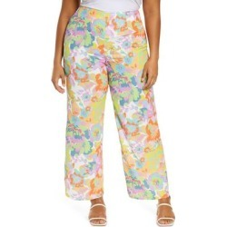 Freya Floral High Waist Wide Leg Pants - Blue - Never Fully Dressed Pants found on MODAPINS from lyst.com for USD $69.00