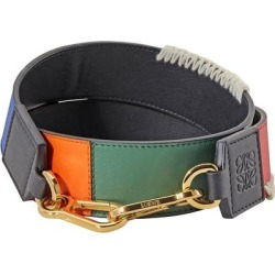Ladies Multicolor Patchwork Thin Strap - Blue - Loewe Belts found on MODAPINS from lyst.com for USD $350.00