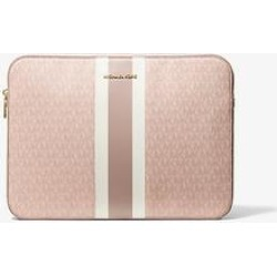 Michael Kors Jet Set Logo Stripe 15 Inch Laptop Case Pink One Size found on MODAPINS from Michael Kors for USD $96.00