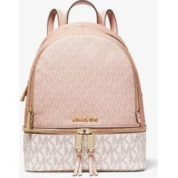 Michael Kors Rhea Medium Color-Block Logo Backpack Pink One Size found on Bargain Bro Philippines from Michael Kors for $328.00