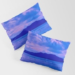 King Size Pillow Sham | Blue Mountain Shore by Torichristgen - STANDARD SET OF 2 - Cotton - Society6 found on Bargain Bro from Society6 for USD $30.39