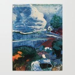 "Mini World Environmental Blues 2 Art Poster by Anoellejay - 18"" X 24"""