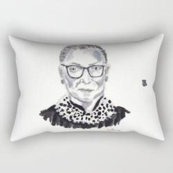 Rectangular Pillow   Rbg by Elena Sandovici - Small (17