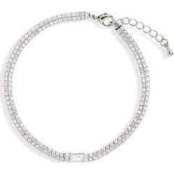 Double Row Tennis Bracelet - Metallic - Nordstrom Bracelets found on Bargain Bro from lyst.com for USD $44.84