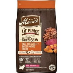 Merrick Lil' Plates Grain Free Small Breed Dry Dog Food Real Texas Beef, Sweet Potato + Peas With Raw Bites Recipe, 10-lb bag