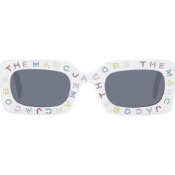White 'the Logo' Rectangular Sunglasses - White - Marc Jacobs Sunglasses found on Bargain Bro India from lyst.com for $250.00