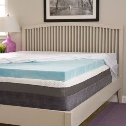 Comforpedic Loft from Beautyrest Choose Your Comfort 2-inch Gel Memory Foam Mattress Topper with Egyptian Cotton Cover (Memory Foam - Firm - King), found on Bargain Bro from Overstock for USD $115.13