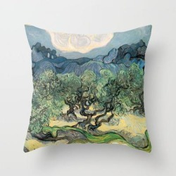 Throw Pillow   Vincent Van Gogh, Olive Trees. by Artscollection - Cover (16