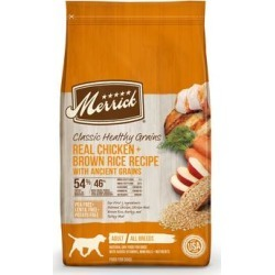 Merrick Classic Healthy Grains Real Chicken & Brown Rice Recipe with Ancient Grains Dry Dog Food, 12 lbs.
