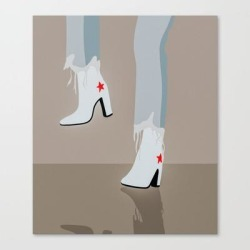 Star Girl Canvas Print by Ally Quirk Design - LARGE found on Bargain Bro India from Society6 for $157.49