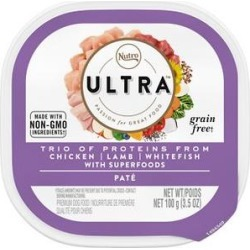 Nutro Ultra Small Breed Adult Pate Chicken, Lamb & Salmon Dog Food Trays, 3.5-oz tray, 24ct