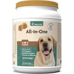 NaturVet All-In-One Soft Chews Dog Supplement , 240 count